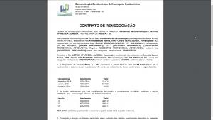Contrato de renegociação